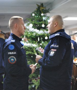 Polish Police delegation with a Christmas visit to the Polish Police Contingent in Kosovo