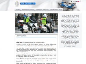 New, English version of the police website